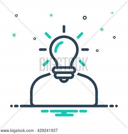 Mix Icon For Understand Deem Comprehend Idea Perceive Think Ponder Interpret