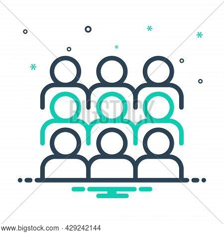 Mix Icon For Gather Congregate Collect Mass Rendezvous  Cluster Assemble Crowd Flock