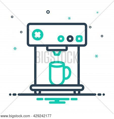 Mix Icon For Maker Coffee-maker Breakfast Cafe Caffeine Cappuccino Cup Drink Hot Machine Appliance