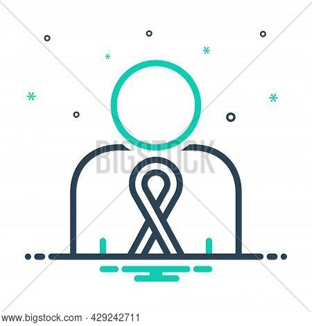 Mix Icon For Cancer Disease Sickness Long-illness Awareness Hiv Aids Ribbon