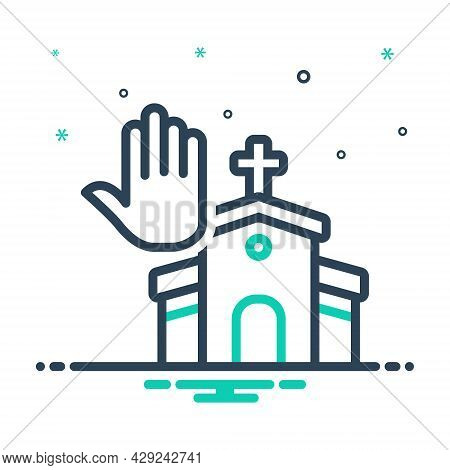 Mix Icon For Faith Pray Worship Veneration Church Belief Believe Holy Building Cathalic Religion Tra