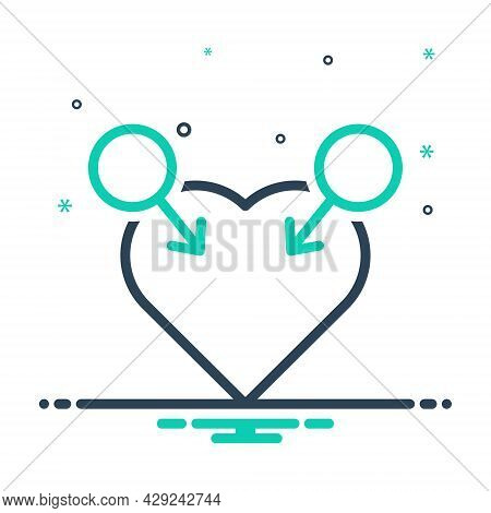 Mix Icon For Gay Homosexual Lesbian Queer Masculine Unisex Gender Heart