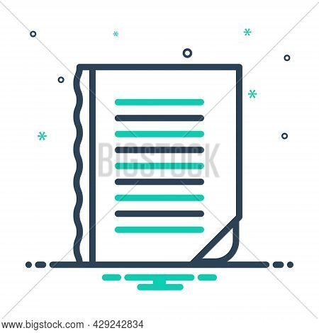 Mix Icon For Edge Torrent Watercourse Splitting Boundary Margin Outskirt Paper Curve