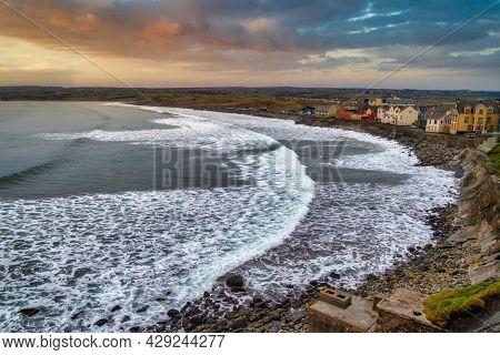 Scenery of Lahinch village by the Atlantic Ocean, Co. Clare. Ireland