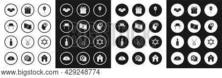 Set Balloon With Star Of David, Flag Israel, Orthodox Jewish Hat, Jewish Sweet Bakery, Gift Box, Sta