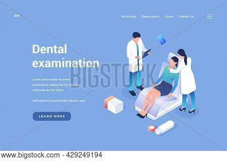 Dental Treatment And Examination. Dentist Conducts Therapy Patients. Medical Prophylaxis Of Teeth An