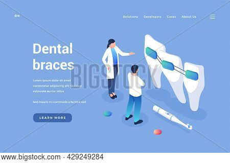 Dental Orthodontics Braces. Dentist Reviews Quality Of Headgears And Improvement In Bite. Profession