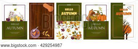Bright Vector Autumn Sales Banner. Advertising, Shopping Discount Promotion. Flat Design Illustratio