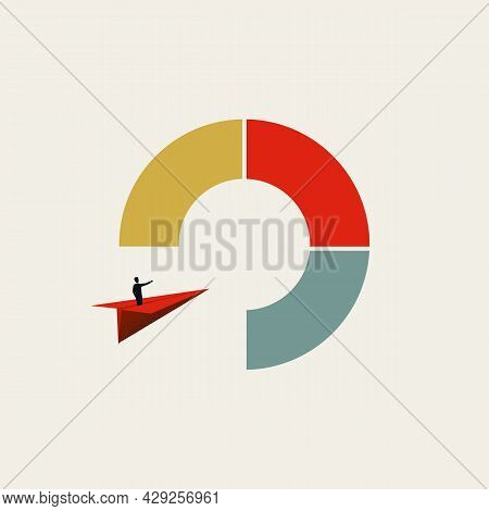 Business Market Entry Straregy Vector Concept. Symbol Of Expansion, Challenge, Opportunity For Growt