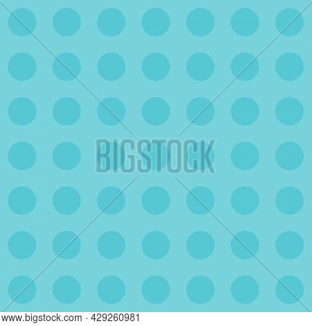 Blue Radiance Color Polka Dot Pattern. Seamless Background For Graphic Design, Fabric, Textile, Fash