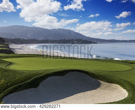 Golf Course With Ocean
