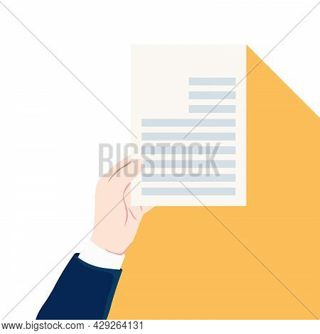 Document Graphic Design, Vector Illustration. Submitting Documents