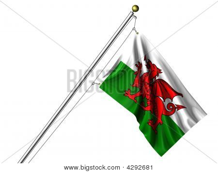 Isolated Welsh Flag