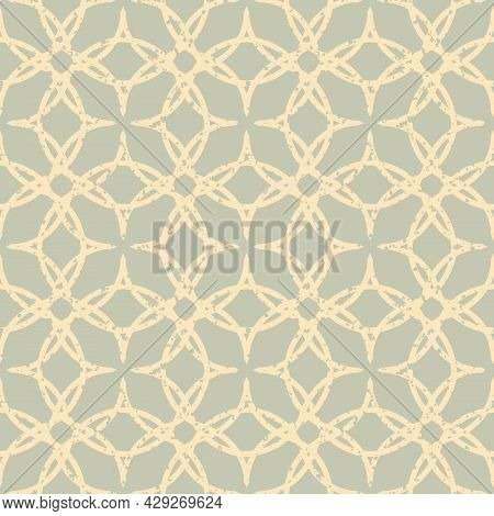 Ogee Style Seamless Vector Pattern Background. Oriental Medieval Ornamentation With Repeated Rounded