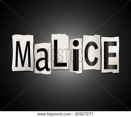 Malice Concept.
