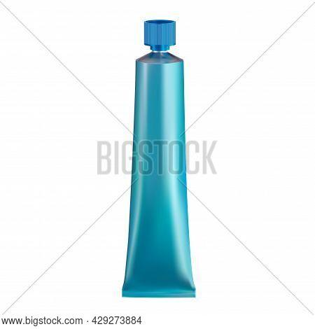 Hair Paint Tube. Aluminium Metal Glue Tube Blank. Face Cream Flexible Pack, Acrylic Paint Container,