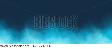 Abstract Picturesque Dark Blue, Turquoise Background With Gentle Transitions