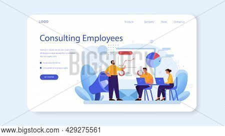 Corporate Relations Web Banner Or Landing Page. Business Ethics.
