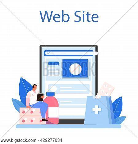 Pharmacy Online Service Or Platform. Pharmacist Preparing