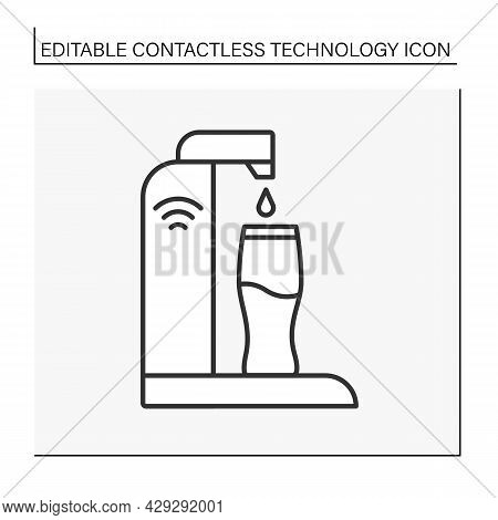 Modern Technology Line Icon. Wireless Sparkling Water And Soda Maker. Seltzer Water Maker.contactles