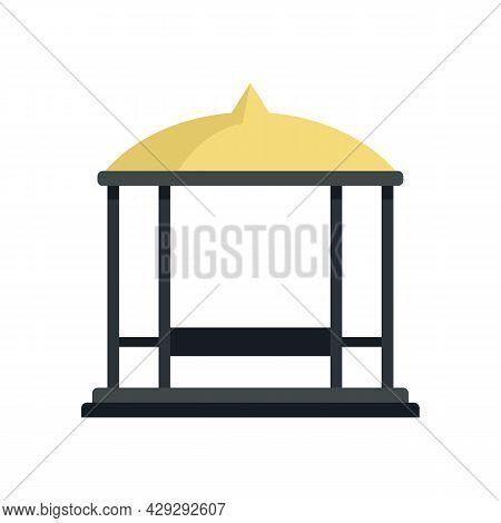 Structure Gazebo Icon. Flat Illustration Of Structure Gazebo Vector Icon Isolated On White Backgroun