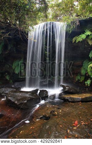 A Large Waterfall Over Some Water On Nsw Central Coast