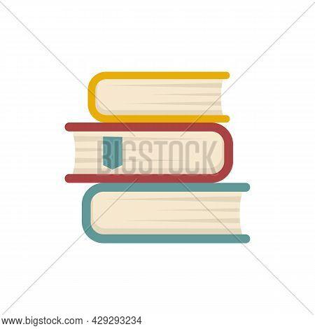 Internship Book Stack Icon. Flat Illustration Of Internship Book Stack Vector Icon Isolated On White