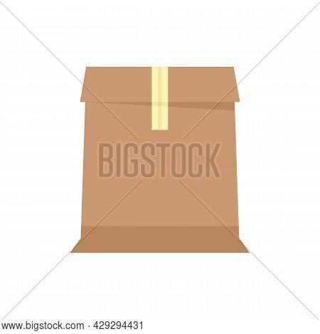 Storage Carton Box Icon. Flat Illustration Of Storage Carton Box Vector Icon Isolated On White Backg
