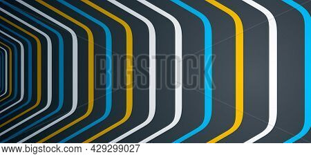 Minimal Design Of Abstract Lines In 3d Perspective Vector Abstract Background, Minimalistic Cool Tre