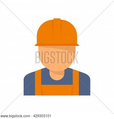 Reconstruction Worker Icon. Flat Illustration Of Reconstruction Worker Vector Icon Isolated On White