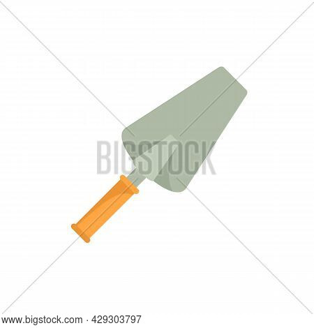 Cement Trowel Icon. Flat Illustration Of Cement Trowel Vector Icon Isolated On White Background