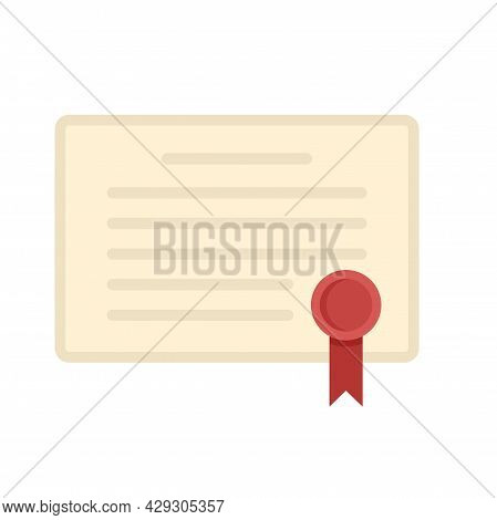 Excellence Diploma Icon. Flat Illustration Of Excellence Diploma Vector Icon Isolated On White Backg