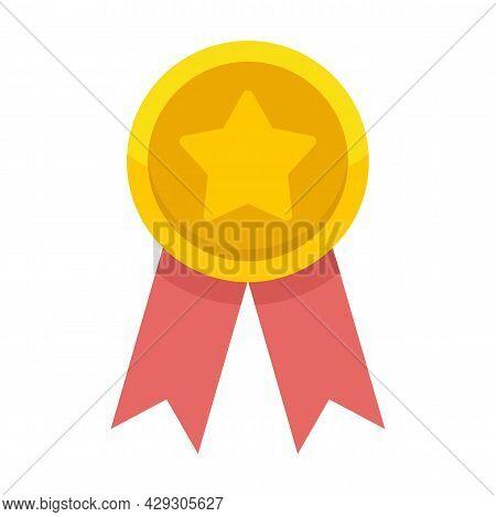 Star Premium Emblem Icon. Flat Illustration Of Star Premium Emblem Vector Icon Isolated On White Bac