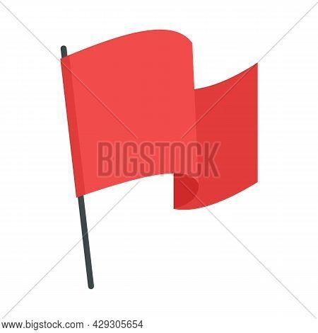 Award Flag Excellence Icon. Flat Illustration Of Award Flag Excellence Vector Icon Isolated On White