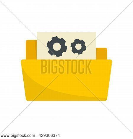 Secret Folder Innovation Icon. Flat Illustration Of Secret Folder Innovation Vector Icon Isolated On