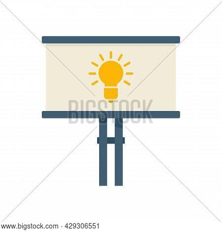 Street Billboard Innovation Icon. Flat Illustration Of Street Billboard Innovation Vector Icon Isola