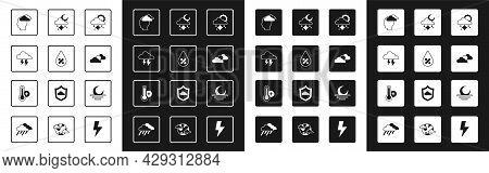 Set Cloud With Snow And Sun, Water Drop Percentage, Storm, Man Having Headache, Sun Cloud Weather, S