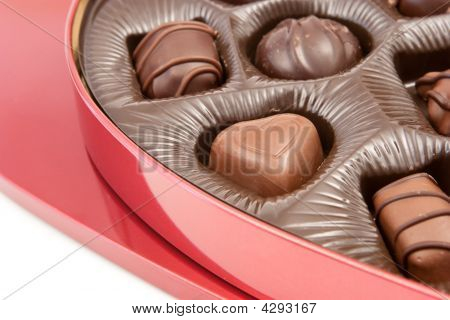 Valentine's Chocolates In Red Gift Box