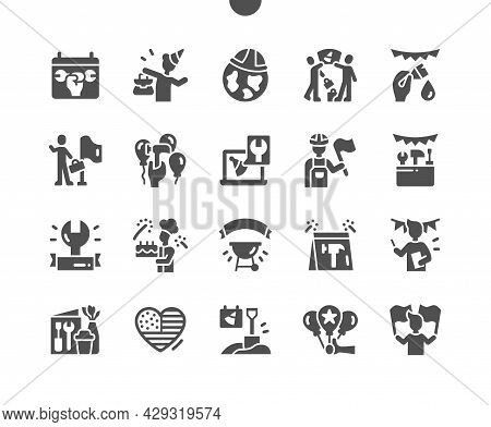 International Labor Day 1 May. Worker. Calendar. First Of May. Holiday. People Celebrate. Vector Sol
