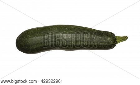Zucchini Striped Isolated On A White Background.zucchini Background.
