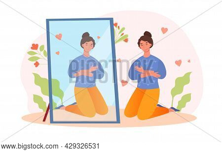 Happy Woman Hugging Herself, Narcissism, Positive Affirmations, Body Positive, Self Care, Valentines