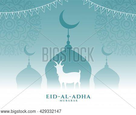 Nice Greeting For Eid Al Adha Bakrid Festival Design Vector Illustration