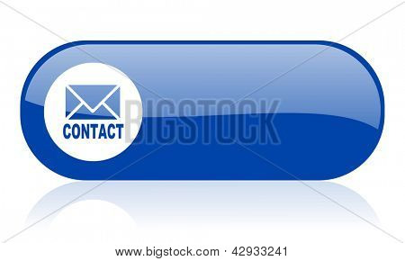 contact blue web glossy icon