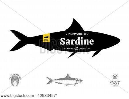 Vector Sardine Label