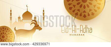 Eid Al Adha Kurbani Festival Of Bakrid Banner Design Vector Illustration