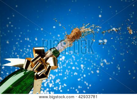 Champagne Plash And Snow