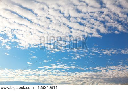 Cirrocumulus Atmospheric Instability Clouds. Sky In The Daytime