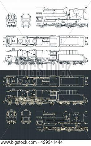 Steam Locomotive Blueprints