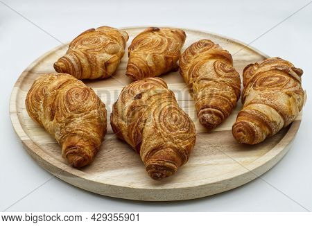 Italian Panscrò Bread. Panscrò Bread Is A Salty Croissant, Crunchy On The Outside And Soft On The In