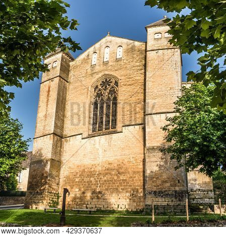 View At The Church Of Saint Laurent And Saint Front Front In Beaumont-du-perigord - France